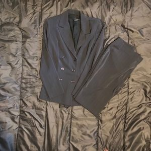 Other - Dark grey pant suit with pinstripes